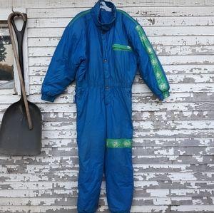 Vintage skila ski suit snow suit size 36